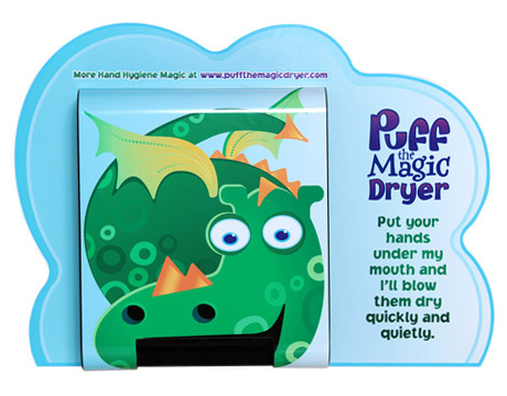Puff the hand drying dragon